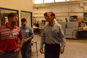 HFI president, Sandy Bryant, took customers on a facility tour.